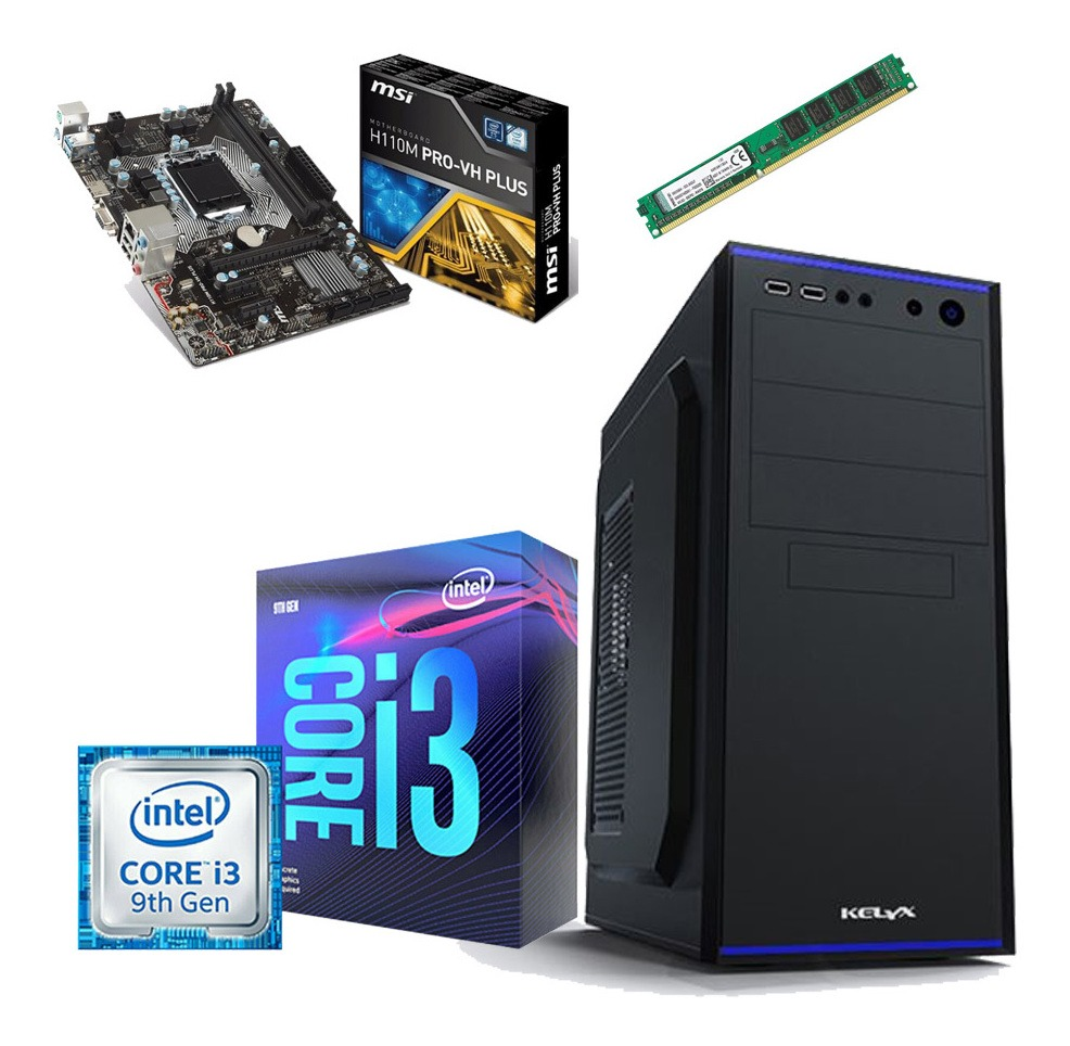 PC Intel i3 9100 - Disco SSD 240GB - Ram 8GB