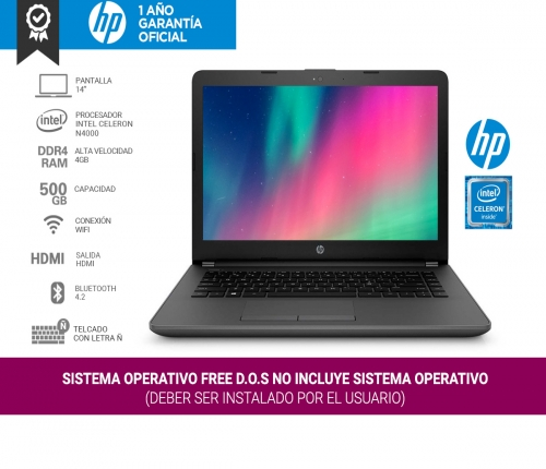Notebook HP 14-ck0061 Intel 4gb 500gb 14 pul