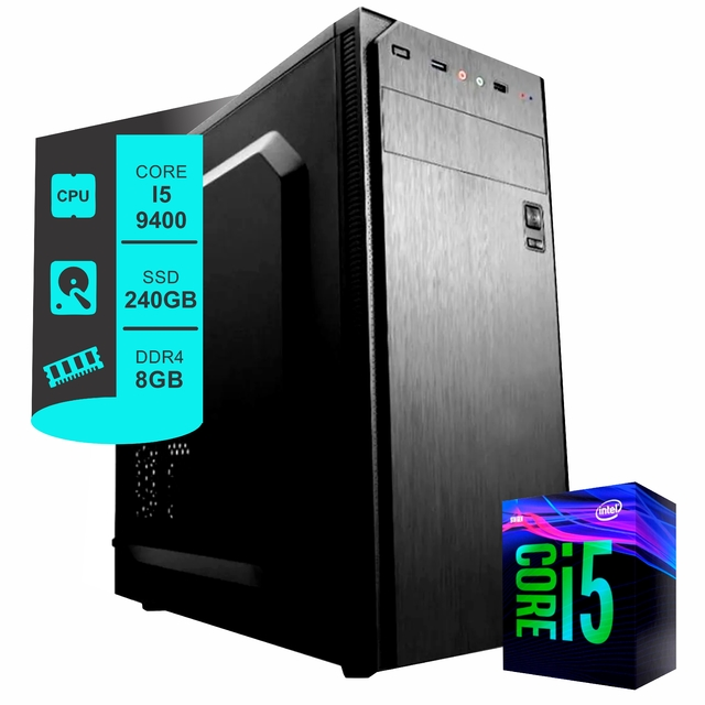 PC Intel i5 9400F - Disco SSD 240GB - Ram 8GB